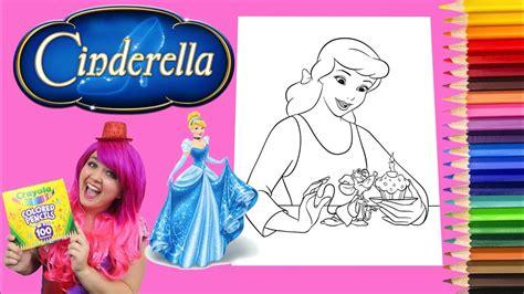 coloring cinderella disney princess coloring book page colored pencil prismacolor kimmi