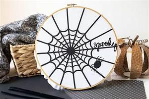 Cricut Halloween Spider Web Decorations