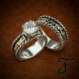 diamond rings in southwestern setting wedding promise With western wedding ring sets