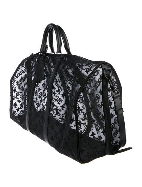 louis vuitton  black monogram mesh large carryall
