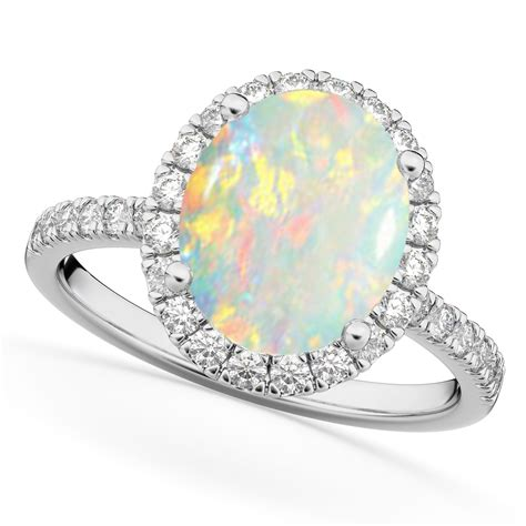 Oval Cut Halo Opal & Diamond Engagement Ring 14k White. Concrete Wedding Rings. Hunting Rings. Abalone Wedding Rings. L Color Engagement Rings. Blue Diamond Baguette Wedding Rings. Teak Wood Wedding Rings. Glass Rings. Diamond Baguette Engagement Rings