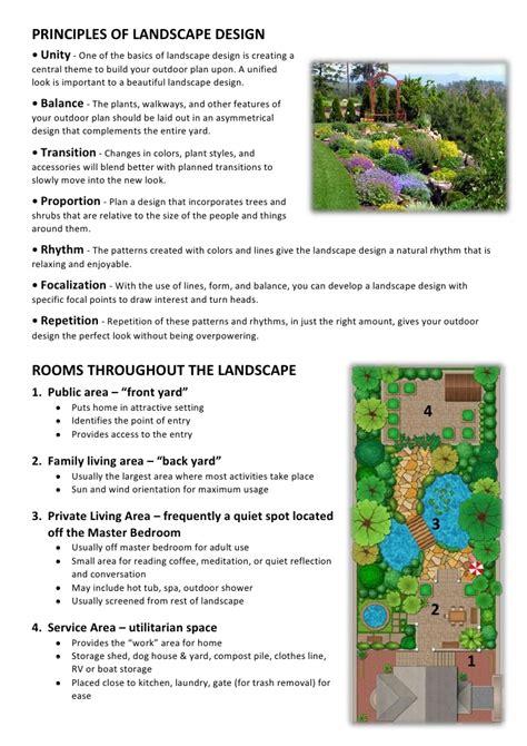 landscape principles landscaping design