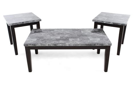 Wide selection of modern coffee tables. Three-Piece Contemporary Coffee Table Set in Black ...