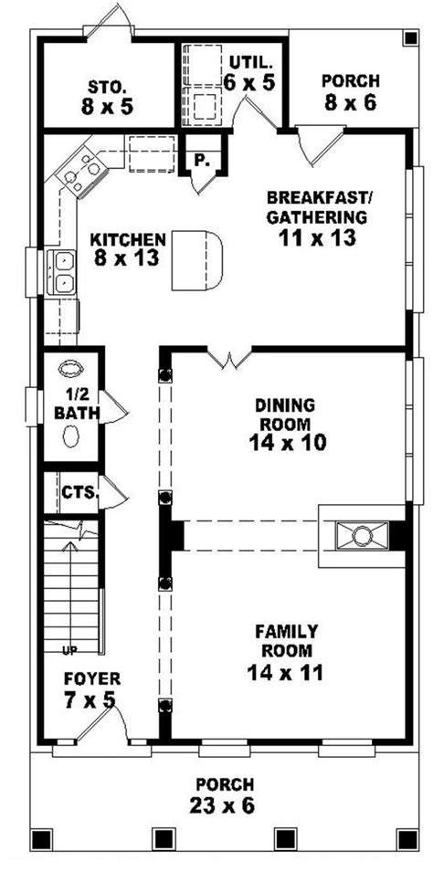 House Plans For A Narrow Lot by Floor Plan For Narrow Lot Floor Plans For Narrow Houses