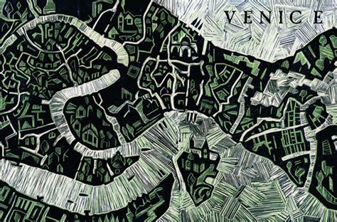 vibrant illustrated maps  venice wanderarti