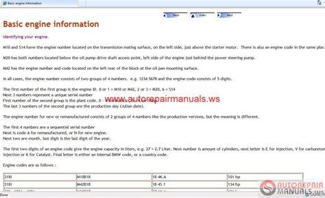 online service manuals 2001 bmw m on board diagnostic system bmw e30 m3 1999 2001 repair manual auto repair manual forum heavy equipment forums