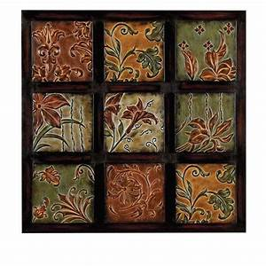 Home Decorators Collection 32 in Multi-Colored Metal Wall