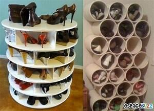 Idée Rangement Chaussures A Faire Soi Meme : 9 id es de rangements pour vos chaussures ~ Dallasstarsshop.com Idées de Décoration