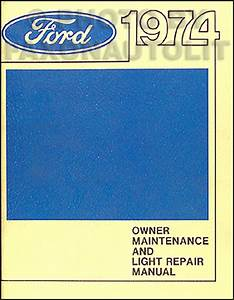 1974 Ford Truck Service Specs Manual