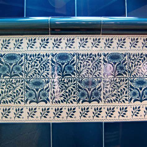 Victorian Oreton Blue Decorative Tiles 152x152mm