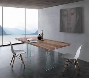 Table En Verre Rectangulaire : table a manger verre bois treeve zd1 tab r c ~ Teatrodelosmanantiales.com Idées de Décoration