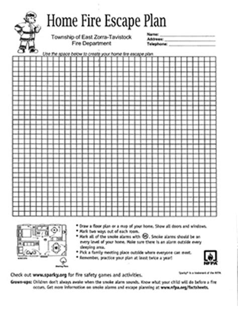 printable fire escape plan escape plan