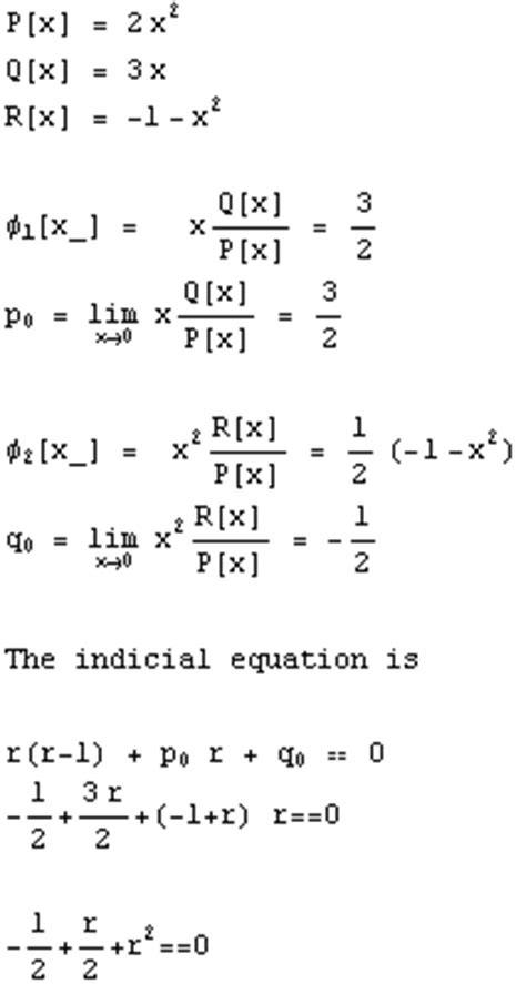 frobenius series solution