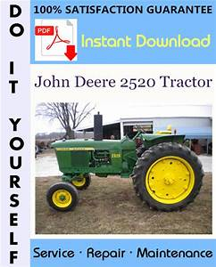 John Deere 2520 Tractor Technical Manual  U2606
