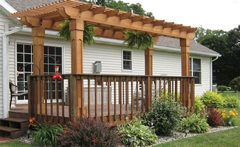 how to build a pergola a concrete patio