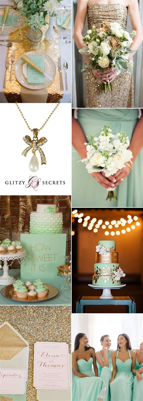 Mint And Gold Wedding Ideas Wedding Colors Gold Wedding