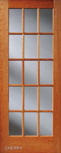 wooden door with glass panel cherry 15 lite interior doors homestead doors 1958