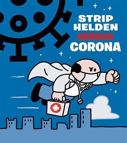 Corona Striphelden Versus Gratis Humor Te Een