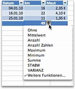 Excel Tabelle Summe Berechnen : verwenden von excel tabellen zum berechnen von gesamtergebnissen excel for mac ~ Themetempest.com Abrechnung