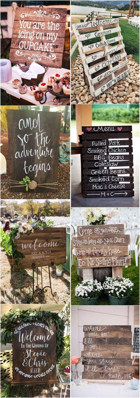 18 rustic budget friendly rustic wedding signs ideas
