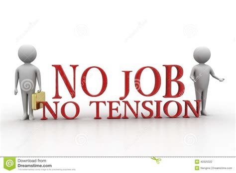 3d People With No Job No Tension Stock Illustration