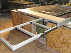 table  folding outfeed table woodworking