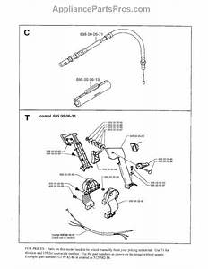 Parts For Husqvarna 145bt  Throttle Cable And Wire Harness