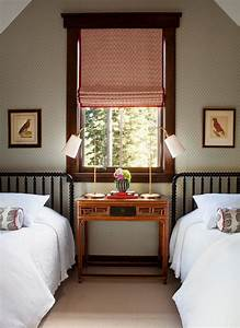 Attic, Guest, Room, With, Two, Twin, Beds, Designed, By, Palmer, Weiss