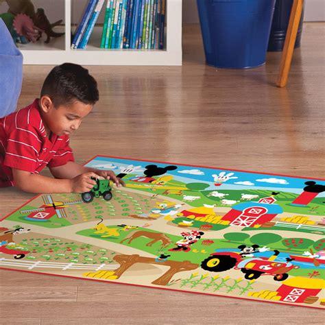 disney mickey fun farm interactive game rug