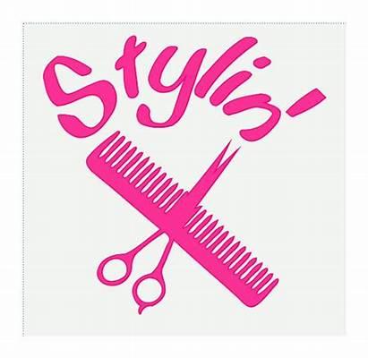 Hair Decal Vinyl Stylin Stylist Barber Dresser