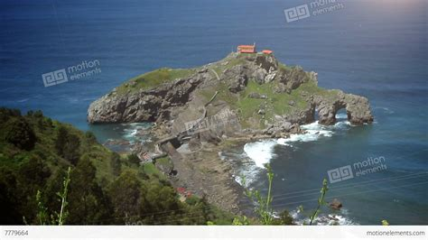 The San Juan De Gaztelugatxe Basque Country Spain Stock