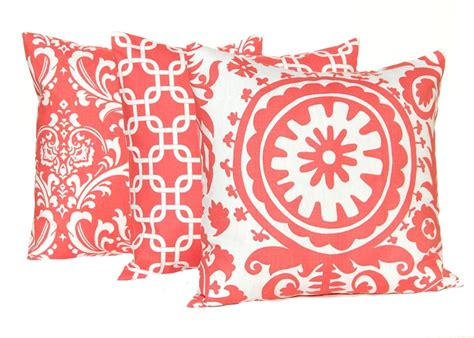 coral pillows decorative via etsy love this color must