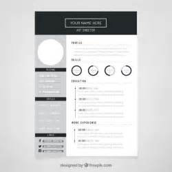 director resume template vector free