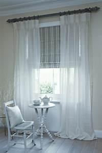 Rideau En Lin Blanc : le rideau en lin une belle d coration pour l 39 int rieur ~ Melissatoandfro.com Idées de Décoration