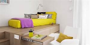 Jugendliche Betten : coole zimmer ideen f r jugendliche mit schrank als podest ~ Pilothousefishingboats.com Haus und Dekorationen