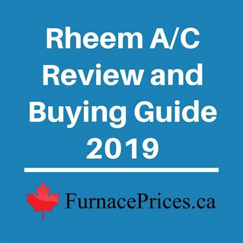rheem air conditioner review  buying guide