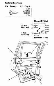 Service Manual  Diagrams To Remove 2007 Honda Pilot Driver Door Panel