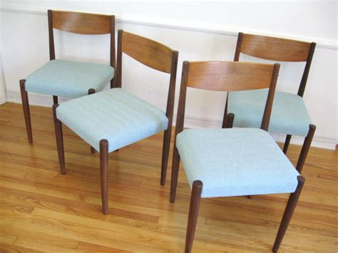60s modern teak wood vintage dining chairs by