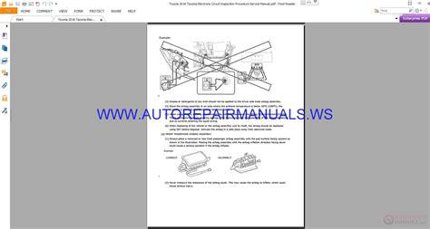 toyota  tacoma electronic circuit inspection procedure