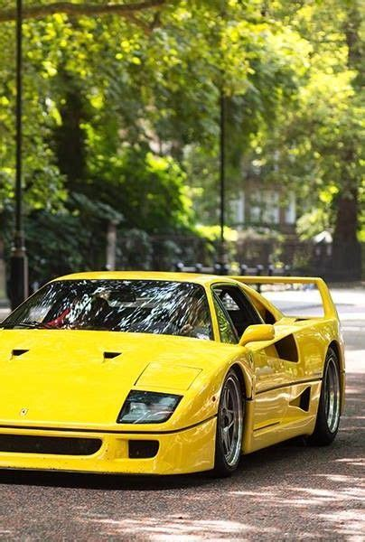 Yellow F40 by 1989 Yellow F40 Race Cars Concept Cars