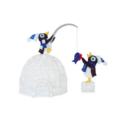 penguin igloo christmas decoration psoriasisgurucom