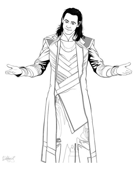 coloring picture loki