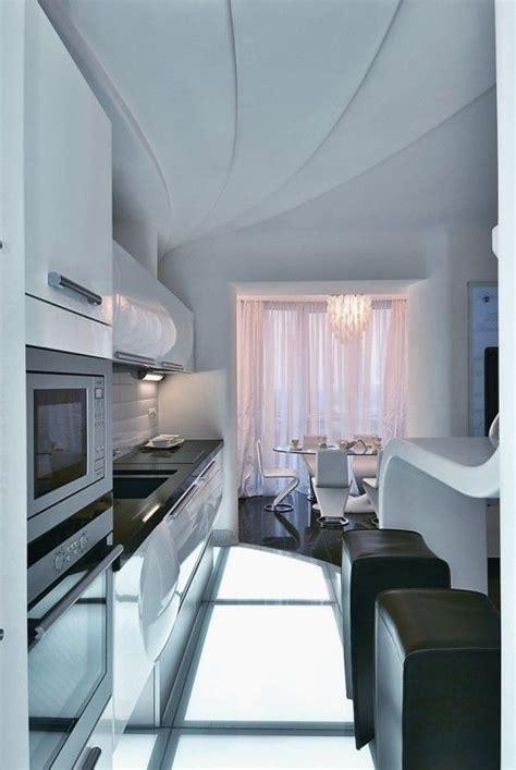 kitchen dining room decor white apartment interior design  natalya farnosova futuristic home