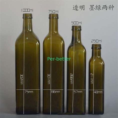 how many are in a 750 milliliter bottle 250ml 500ml 750ml 1000ml oil glass bottle marasca type glass oil bottle
