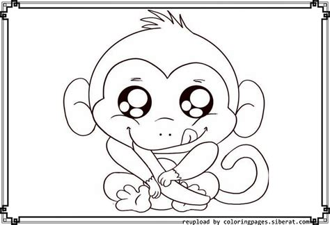 cute monkey coloring pages to download and print for free