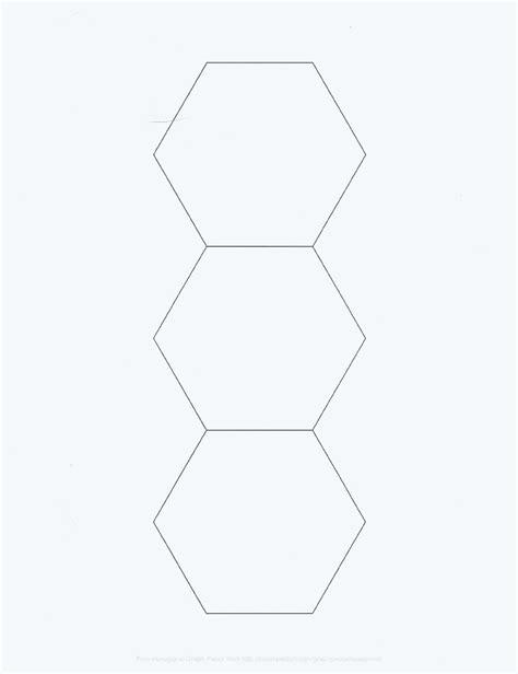 hexagon template hexagon template for