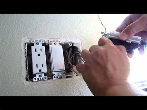 how to replace and install a new light single pole switch youtube