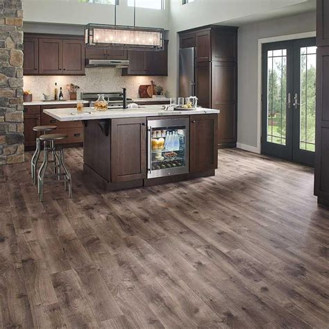 kitchen laminate flooring ideas pergo xp southern grey oak 10 mm thick x 6 1 8 in wide x 5300