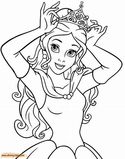 Coloring Belle Beast Beauty Pages Printable Disneyclips