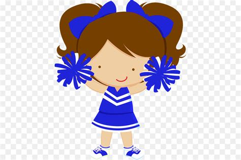 cheerleading clipart blue cheerleading blue transparent     webstockreview